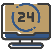 Ícone - Monitoramento 24h