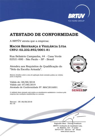 Atestado de Conformidade I.S.P.S CODE (SEA Macor)